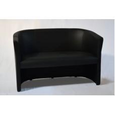 Loungesofa, schwarz