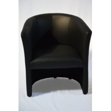 Loungesessel, schwarz